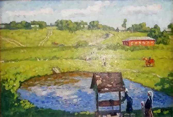 В музее истории села Овстуг отреставрировали две картины братьев А. П. и С. П. Ткачёвых
